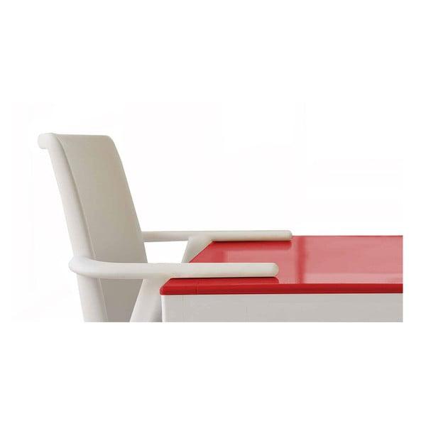 Zestaw 2 białych krzeseł ogrodowych z podłokietnikami Resol Kat