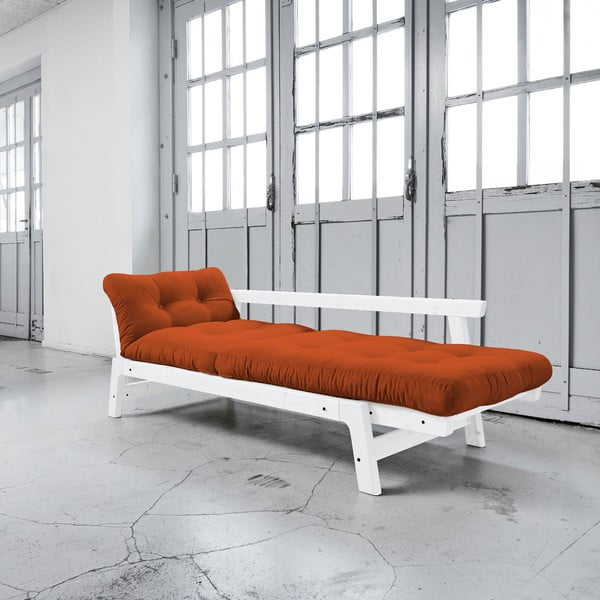 Sofa rozkładana Karup Step White/Orange