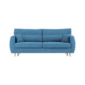 Niebieska 3-osobowa sofa rozkładana ze schowkiem Cosmopolitan design Sydney, 231x98x95 cm