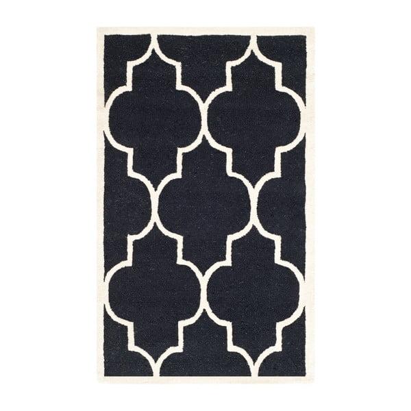 Dywan wełniany Safavieh Everly Night, 91x152 cm
