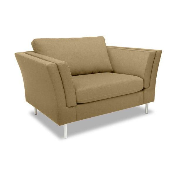 Beżowy fotel Vivonita Connor