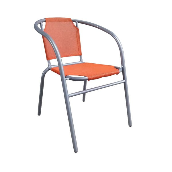 Fotel ogrodowy Texta, pomarańczowy