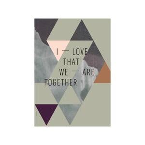 Plakat autorski We Are Together Olive, A3