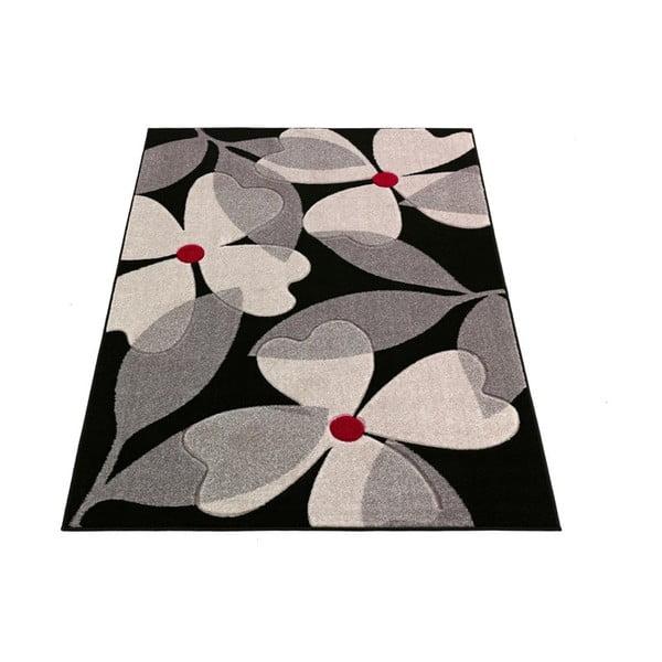 Dywan Intarsio Floral Grey, 140x200 cm