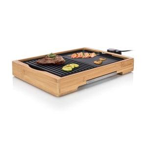 Bambusowy elektryczny grilll stołowy Tristar, moc 2000W