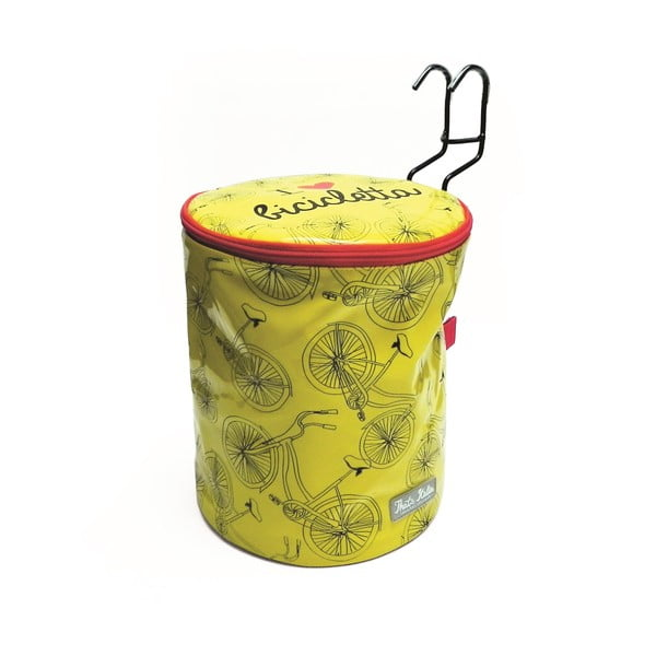 Okrągła torebka na rower I ♥ Bicicleta, żółta