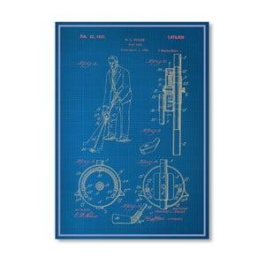 Plakat Adjustable Golf Club, 30x42 cm
