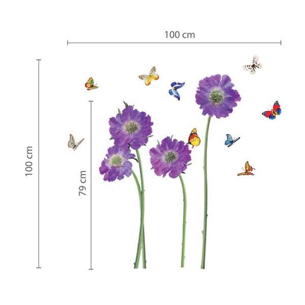 Naklejka ścienna Fioletowe kwiaty
