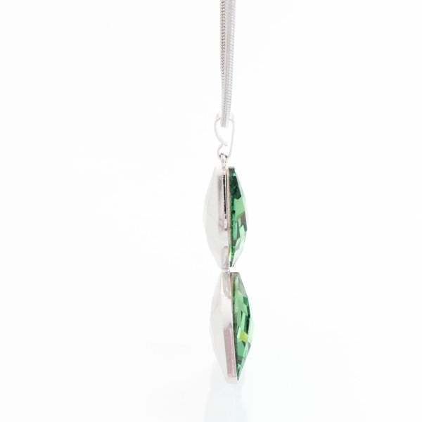 Naszyjnik ze Swarovski Elements, zielony motylek