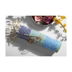 Ręcznik hammam Sunrise Green Blue, 105x175 cm