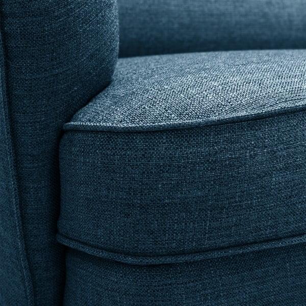 Niebieska sofa 3-osobowa Vivonita Fifties