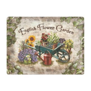 Blaszana tablica Garden, 30x40 cm