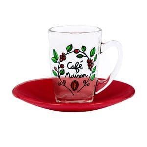 Filiżanka z talerzykiem Café Maison