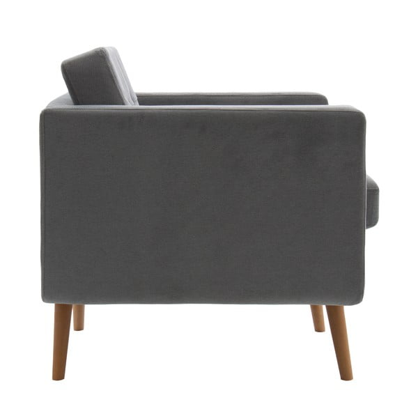 Fotel VIVONITA Sondero Light Grey, naturalne nogi