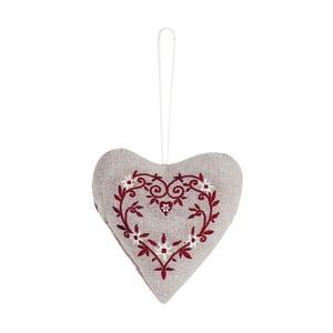 Dekoracja wisząca Antic Line Textil Red Heart