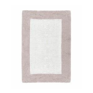 Beżowo-biały ręcznie tkany dywanik łazienkowy z bawełny premium Asos, 60x90 cm