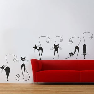 Naklejka dekoracyjna na ścianę Koty