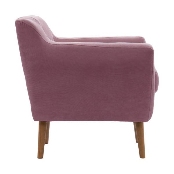 Różowy fotel VIVONITA Kelly Lincoln