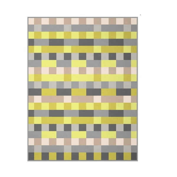 Koc Lime check,150 x 200 cm