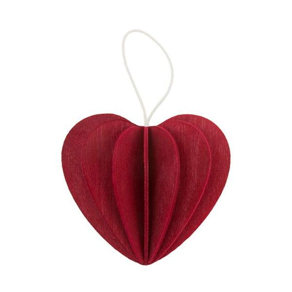 Składana pocztówka Heart Dark Red, 4.5 cm