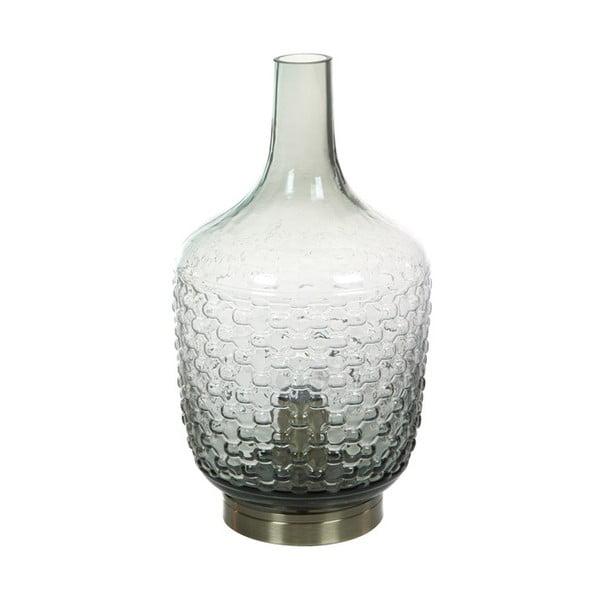 Szara szklana lampa stołowa Santiago Pons Don