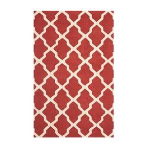 Dywan wełniany Ava Red, 182x274 cm