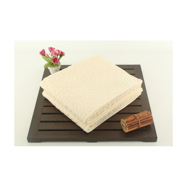 Zestaw 2 ręczników Lisbon Cream, 50x90 cm