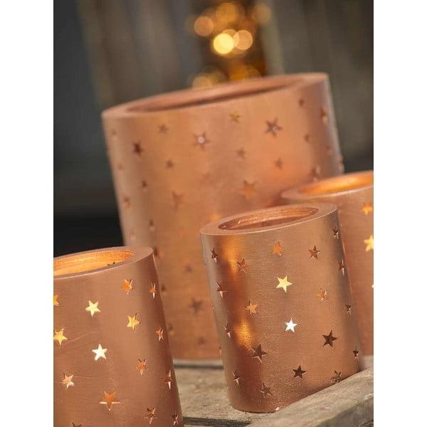 Zestaw 2 świeczników Copper Glass