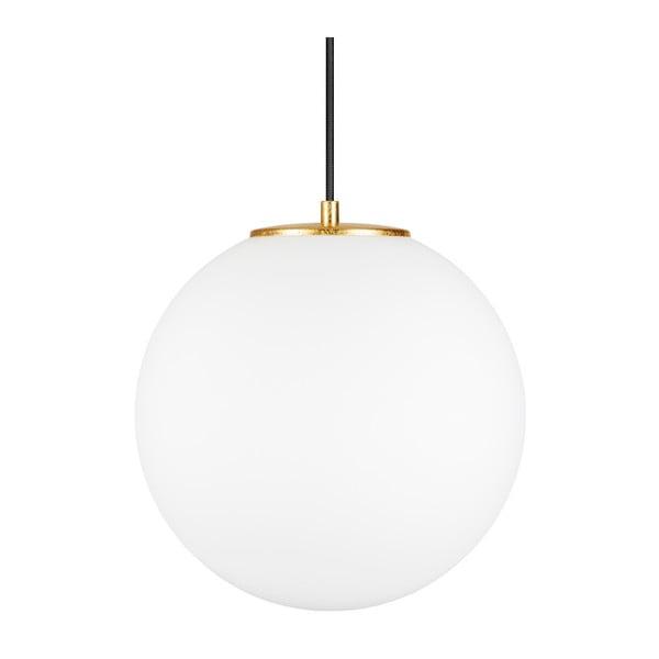 Biała lampa wisząca z obwódką w kolorze złota Sotto Luce TSUKI L