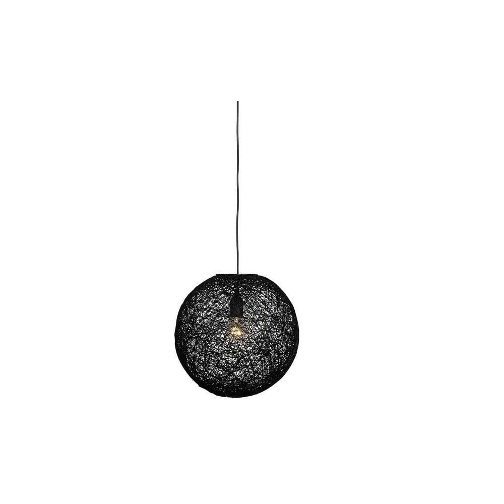 Czarna lampa wisząca LABEL51 Twist, ⌀ 45 cm