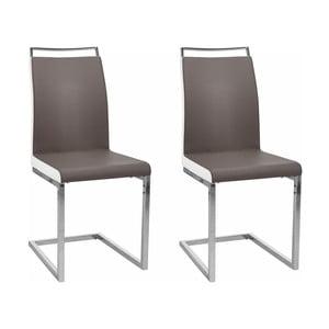 Zestaw 2 brązowych krzeseł Støraa Stark