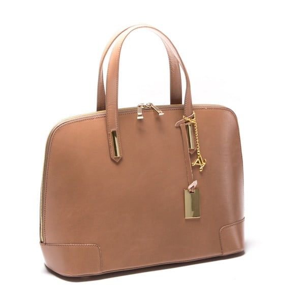 Skórzana torebka Luisa Vanini 364 Fango
