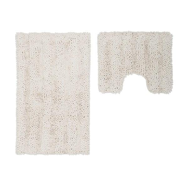 Zestaw 2 dywaników łazienkowych z wcięciem Surface Cream