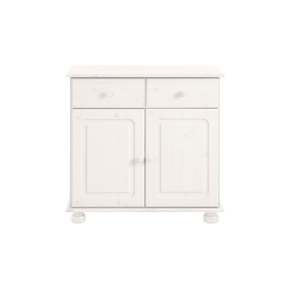 Biała szafka 2-drzwiowa z litej sosny Støraa Ella