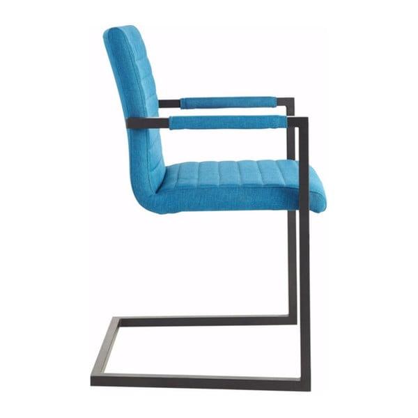 Niebieskie krzesło z podłokietnikami Støraa Stacey