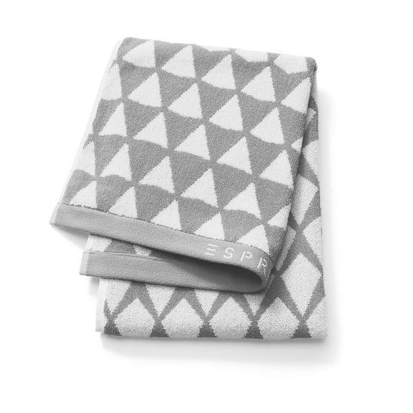 Szary wzorzysty ręcznik Esprit Mina, 50x100 cm