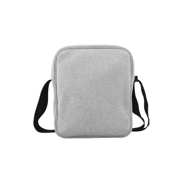Pikselowa torba na ramię, szara/fuksja
