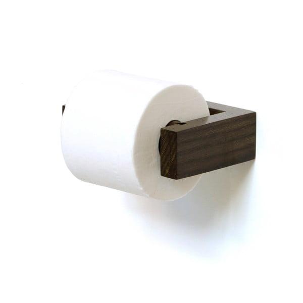 Uchwyt na papier toaletowy z drewna dębowego Wireworks Mezza Dark