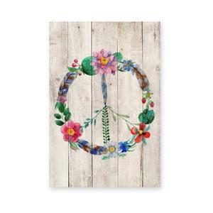 Drewniana tablica Peace