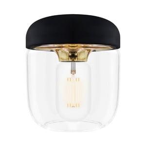 Czarna lampa wisząca z oprawkąw złotej barwie VITA Copenhagen Acorn,  Ø14cm