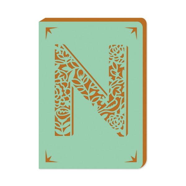 Notatnik w linie A6 z monogramem Portico Designs N, 160str.