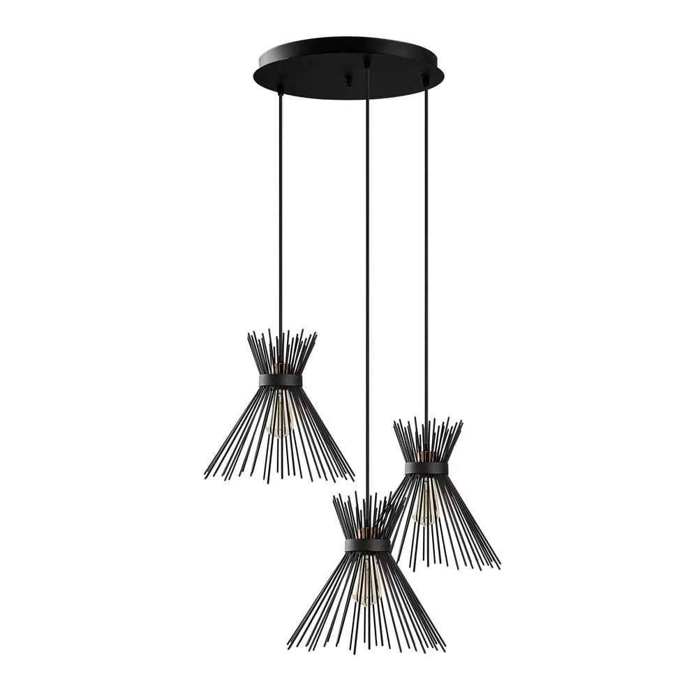 Czarna lampa wisząca Opviq lights Kirpi