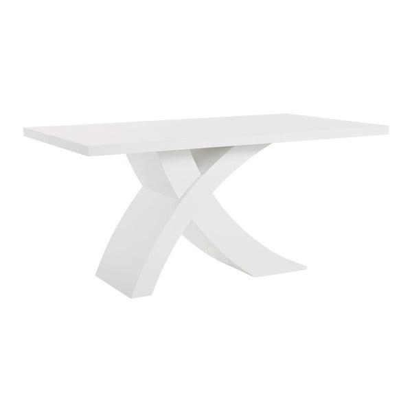 Biały stół z wysokim połyskiem Støraa Griffin