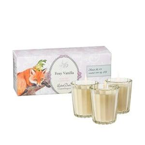 Zestaw 3 świeczek zapachowych Foxy Vanilla Lisbeth Dahl