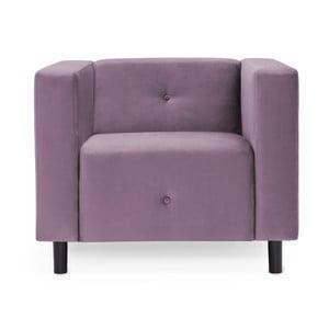 Jasnofioletowy fotel Vivonita Milo