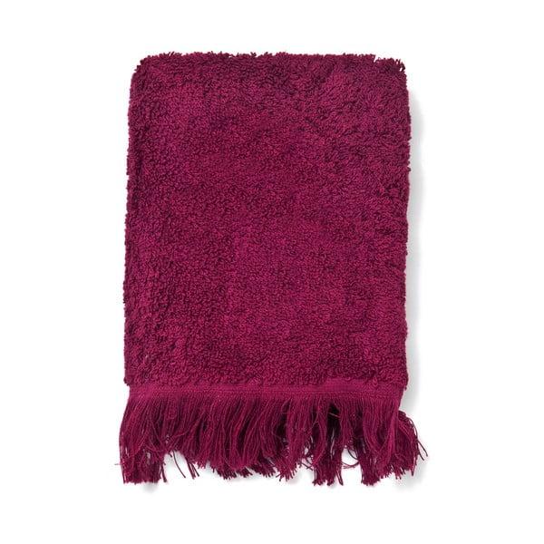 Zestaw 6 bordowych ręczników bawełnianych Casa Di Bassi Guest, 30x50 cm
