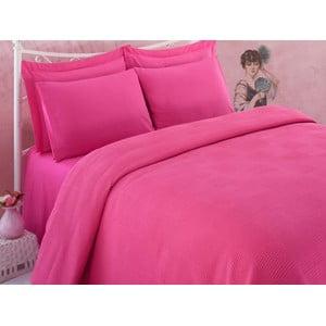 Narzuta na łóżko Dama Fuchsia, 160x230 cm