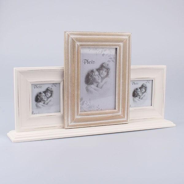 Ramka na 3 zdjęcia Vintage Hearts, 40x22,5 cm