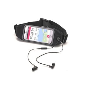 "Sportowa opaska, neopreonowa CELLY RunBelt View, na telefony do 5.5"", czarna"