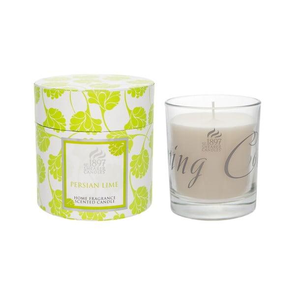 Świeczka zapachowa Spring w prezentowym opakowaniu 40 godzin palenia, aromat limonki